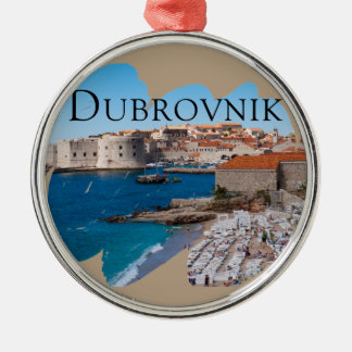 Dubrovnik with a View Silver-Colored Round Ornament