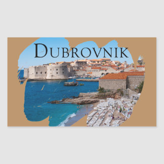 Dubrovnik with a View Sticker
