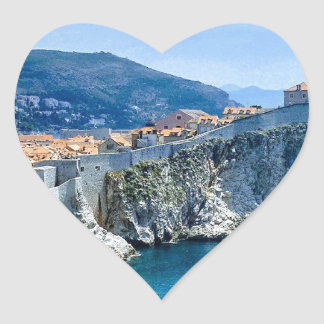 Dubrovnik's Old City Heart Sticker