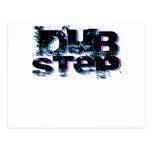 Dubstep Blue and Pink Postcards