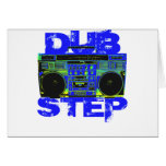 Dubstep Blue Boombox Greeting Cards