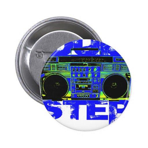 Dubstep Blue Boombox Pinback Buttons