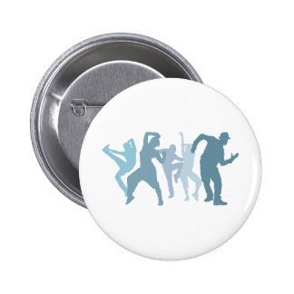 Dubstep Dancers Illustration 2 Inch Round Button
