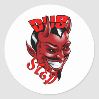 Dubstep Devil Classic Round Sticker