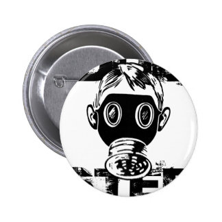 Dubstep Gas Mask 2 Inch Round Button