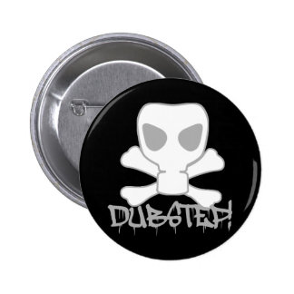 Dubstep Gas Mask Skull Pinback Button