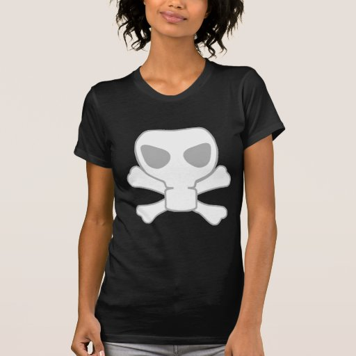 Dubstep Gas Mask Skull with Crossbones Shirt