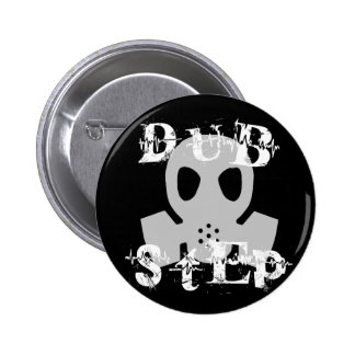 Dubstep Grey Gas Mask Button