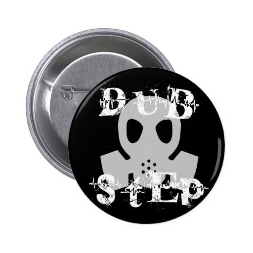 Dubstep Grey Gas Mask Button