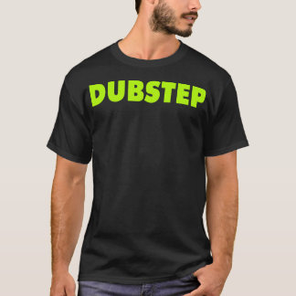 Dubstep ( Lime ) Black T-Shirt