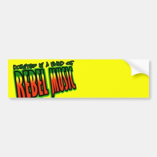 Dubstep Rebel Music Bumper Sticker