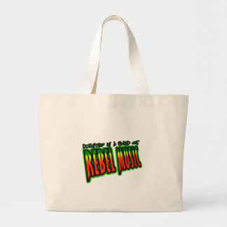 Dubstep Rebel Music Large Tote Bag