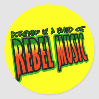 Dubstep Rebel Music Round Sticker