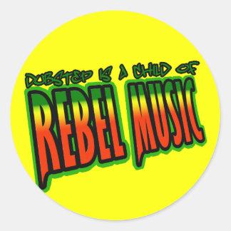 Dubstep Rebel Music Round Stickers