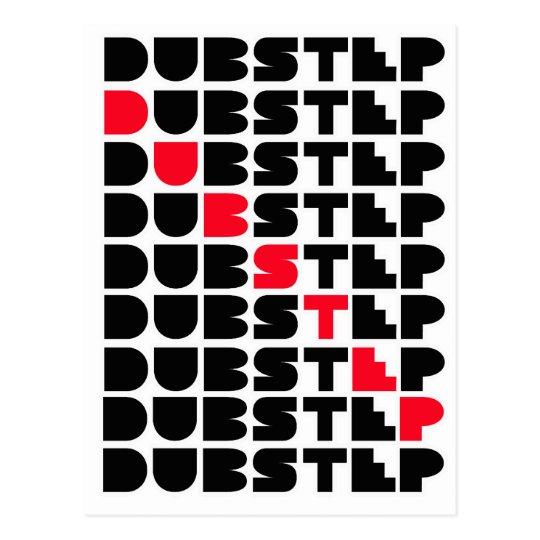 Dubstep WALL girls guys Dubstep music Postcard