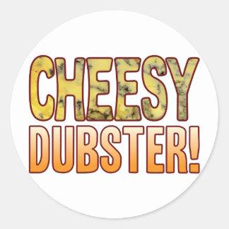 Dubster Blue Cheesy Round Sticker