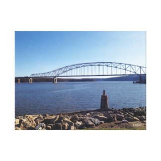 Dubuque Bridge Canvas Print