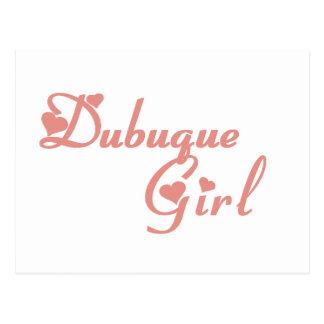 Dubuque Girl tee shirts Postcard