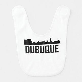 Dubuque Iowa City Skyline Bib