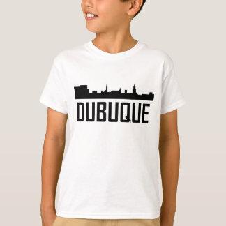 Dubuque Iowa City Skyline T-Shirt