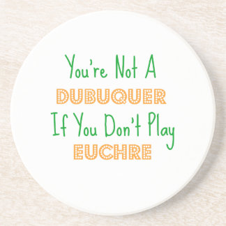Dubuque, Iowa Euchre Card Game Products Beverage Coasters