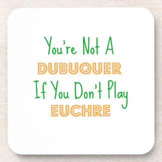 Dubuque, Iowa Euchre Card Game Products Coaster