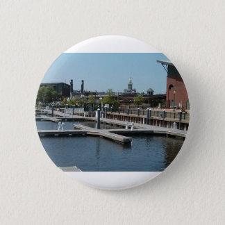 Dubuque, Iowa Ice Harbor, Mississippi River 2 Inch Round Button