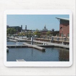Dubuque, Iowa Ice Harbor, Mississippi River Mouse Pad