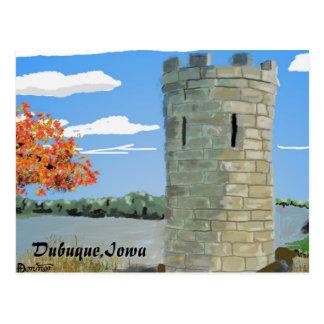 Dubuque, Iowa- Julien Dubuque Monument Postcard