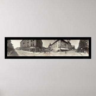 Dubuque Iowa Street Photo 1907 Poster