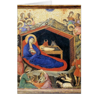 Duccio Nativity, English text card