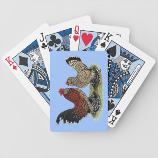 D'Uccle Bantams:  Mille Fleur Bicycle Playing Cards