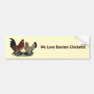 D'Uccle Bantams:  Mille Fleur Bumper Sticker