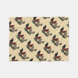 D'Uccle Bantams:  Mille Fleur Fleece Blanket