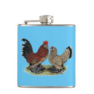 D'Uccle Bantams:  Mille Fleur Hip Flask