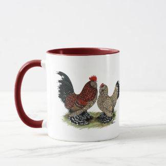 D'Uccle Bantams:  Mille Fleur Mug