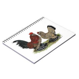 D'Uccle Bantams:  Mille Fleur Notebooks