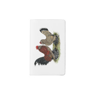 D'Uccle Bantams:  Mille Fleur Pocket Moleskine Notebook