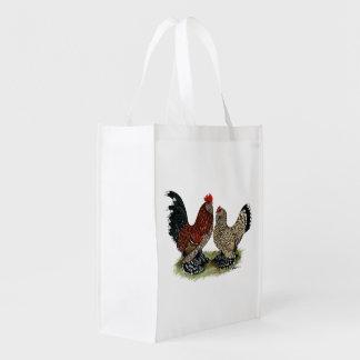 D'Uccle Bantams:  Mille Fleur Reusable Grocery Bag