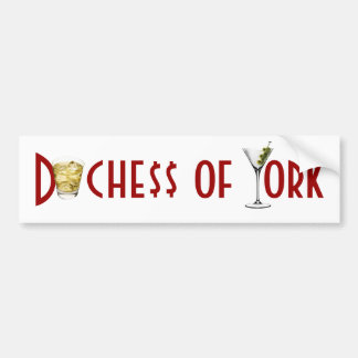 Duchess of York - Friends in Low Places Bumper Sticker