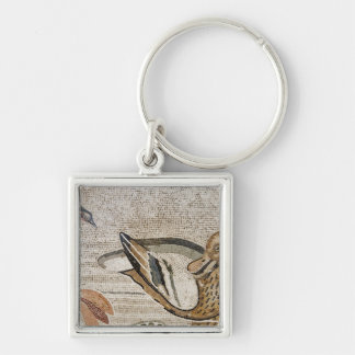 Duck and bird, Nile mosaic, House of the Faun Silver-Colored Square Keychain