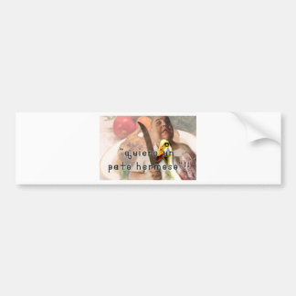 Duck and butcher bumper sticker