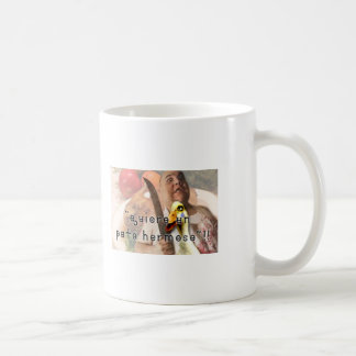 Duck and butcher coffee mug