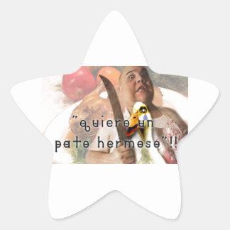 Duck and butcher star sticker