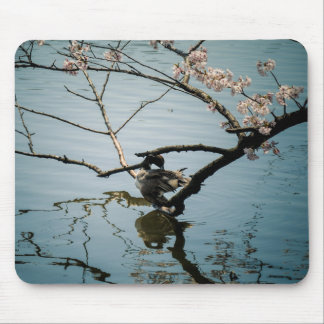 Duck and Cherry Blossom Mouse mat