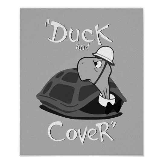Duck and Cover - Vintage Nuclear Attack Poster