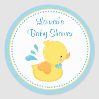 Duck Baby Shower Favor Tag Stickers