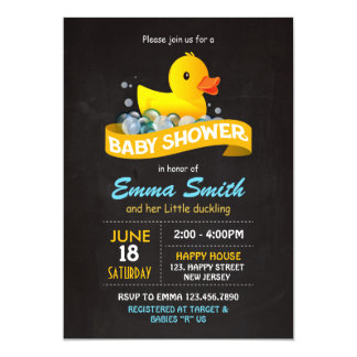 Duck Baby Shower Invitation