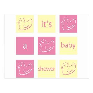 Duck Baby Shower Invitation Postcard