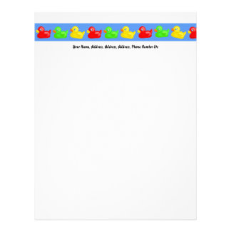 Duck Banner, Your Name, Address, Address, Addre... Letterhead
